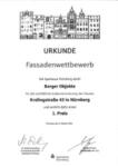 Urkunde-Fassadenwettbewerb
