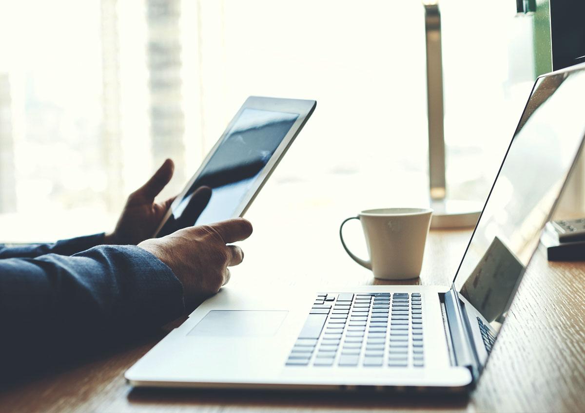 Immobilien-Blog der Berger Gruppe Nürnberg auf Laptop