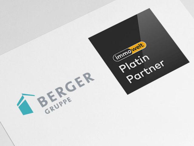 Die BERGER GRUPPE ist Immowelt Platin Partner