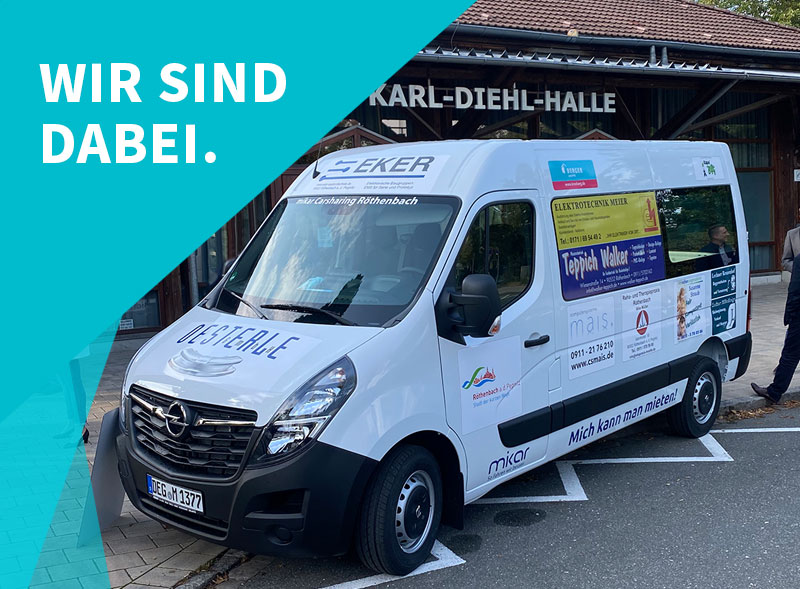 Carsharing Röthenbach sponsored by Berger Gruppe