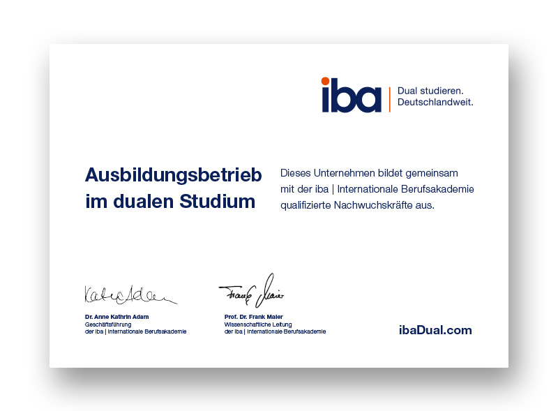 Ausbildungsbetrieb im dualen Studium |iba & BERGER GRUPPE Nürnberg